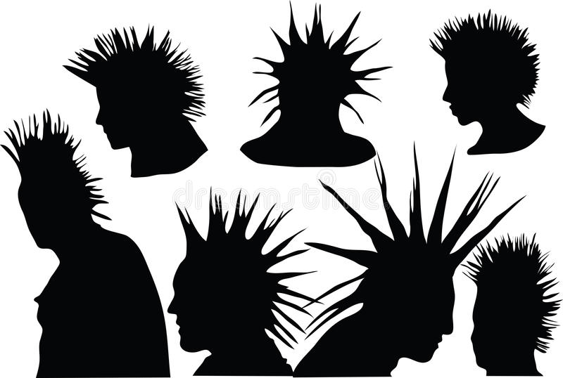 Download Punks stock vector. Image of hooligan, hairdo, fashion - 19731919
