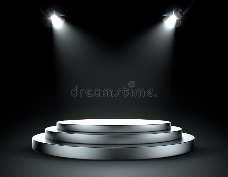 Punktów światła z sceną ilustracji