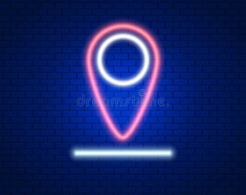 punkt Översikter klämmer fast i ljus effekt för neon l?ge Duva som symbol av f?r?lskelse, pease stock illustrationer