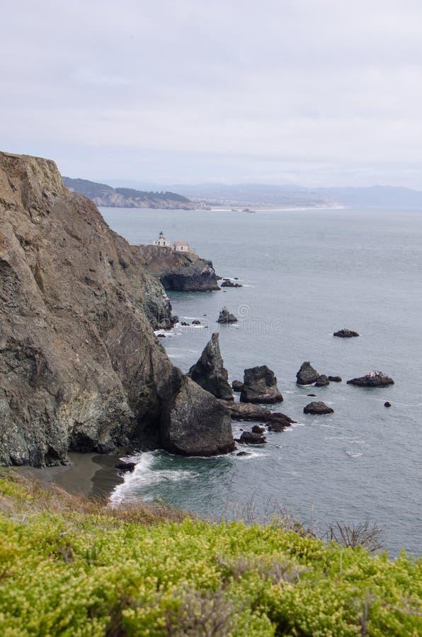 Punkt Bonita Lighthouse in Marin County, gerade außerhalb San Franciscos lizenzfreie stockbilder