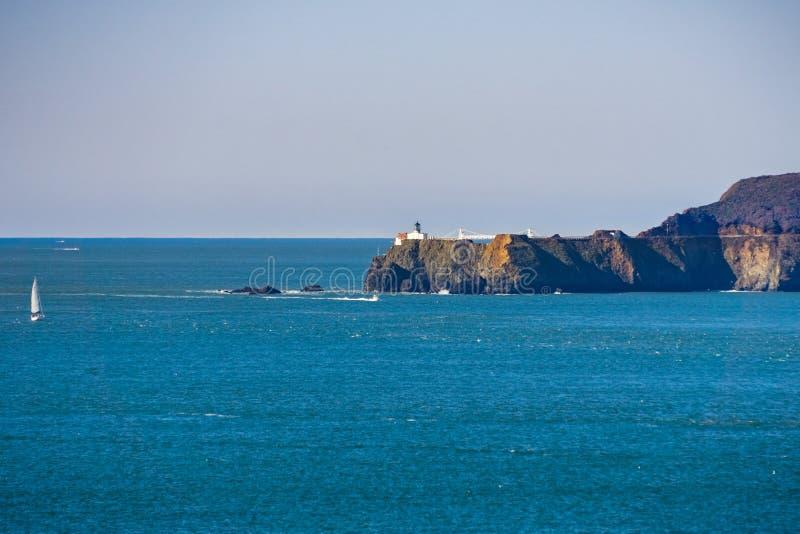 Punkt Bonita Lighthouse und Marin Headlands, San Francisco, Kalifornien stockbilder