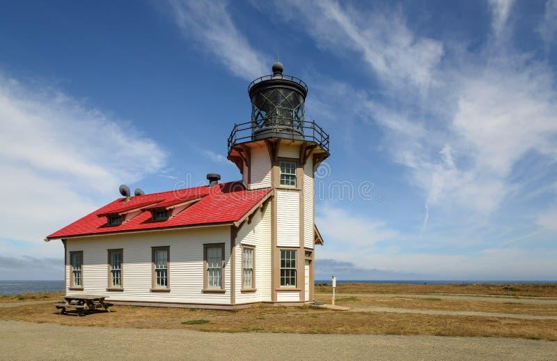 Punkt Cabrillo-Leuchtturm Nord-Kalifornien lizenzfreie stockbilder