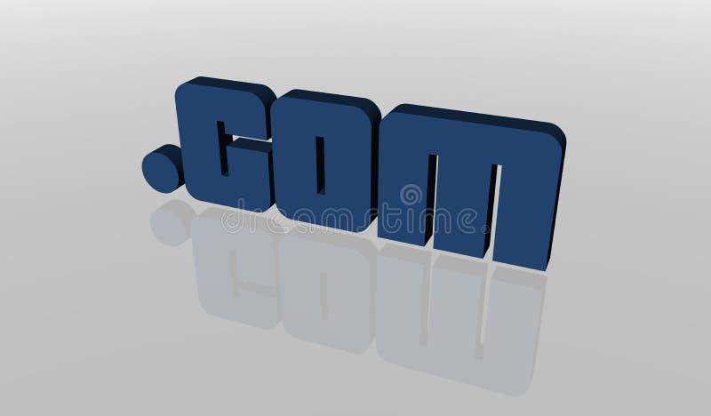 Punkt-COM lizenzfreie abbildung