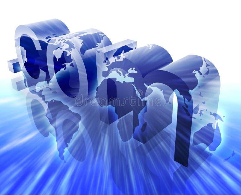 Punkt-COM-Internet lizenzfreie abbildung