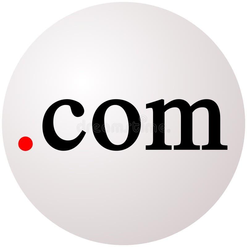 Punkt-COM-Kugel lizenzfreie abbildung
