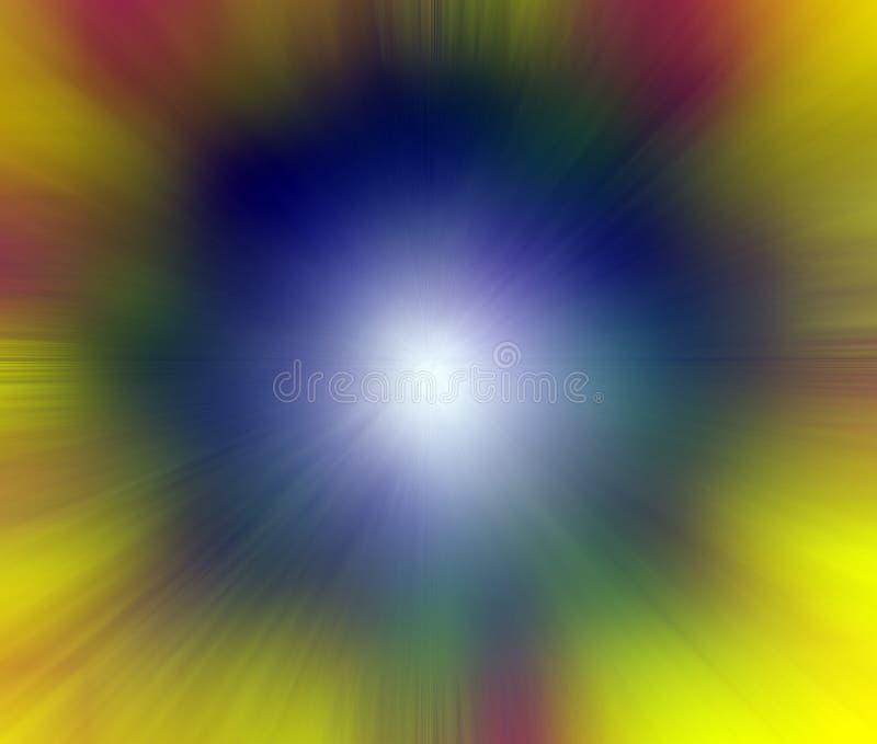 Punkt der Leuchte - explodierende Farbe lizenzfreie abbildung