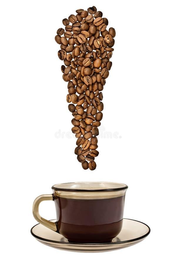 punkt för bönakaffeutrop till arkivbilder