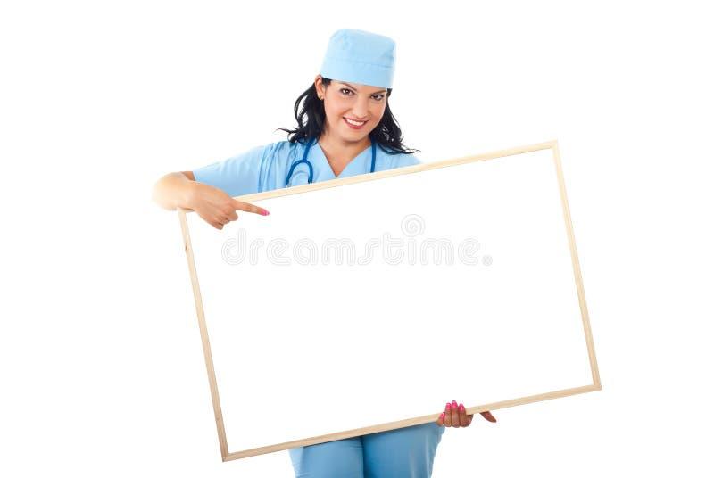 punkt för banercopyspacedoktor till arkivfoton