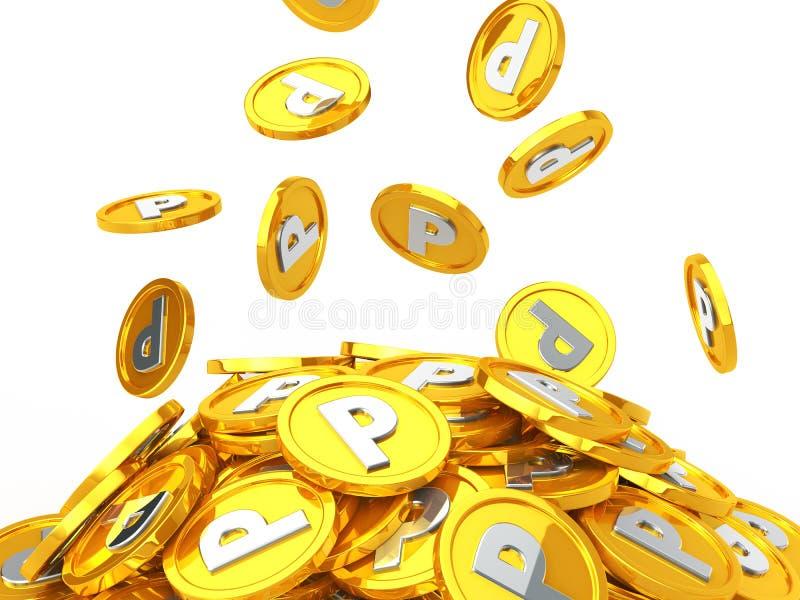 Punkt för guld- mynt royaltyfri illustrationer