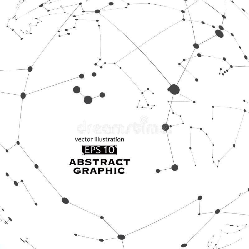 Punkt i linia budowaliśmy technologiczną sensową abstrakcjonistyczną ilustrację royalty ilustracja