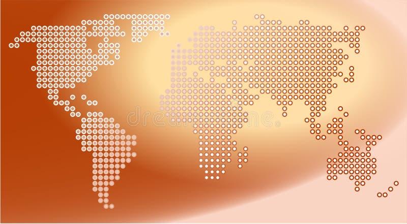 Punkt-Karte lizenzfreie abbildung