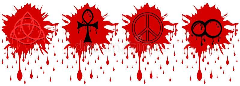 Punkt krew z symbolami odizolowywającymi obrazy royalty free