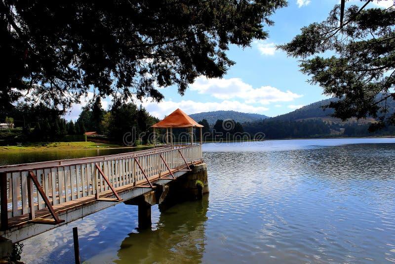 Punkt obserwacyjny w jeziorze zdjęcia royalty free
