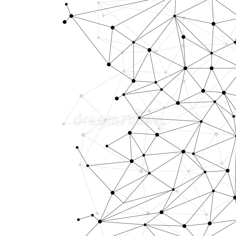 PUNKT-Polygonhintergrund des Netzes Verbindungs: Konzept des Netzes, Geschäft, schließend, Molekül, Daten, Chemikalie an stockfotografie