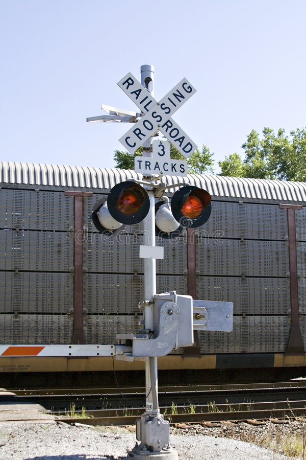 punkt przecięcia linii kolejowej obrazy royalty free