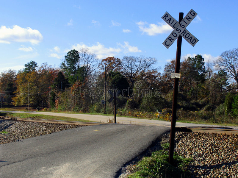 Download Punkt Przecięcia Linii Kolejowej Zdjęcie Stock - Obraz złożonej z wiejski, railroad: 44612