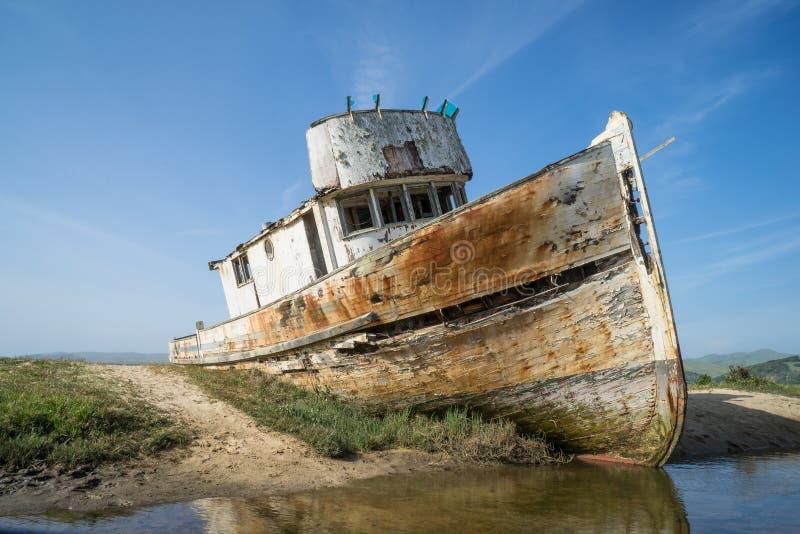 Punkt Reyes Shipwreck royaltyfria foton