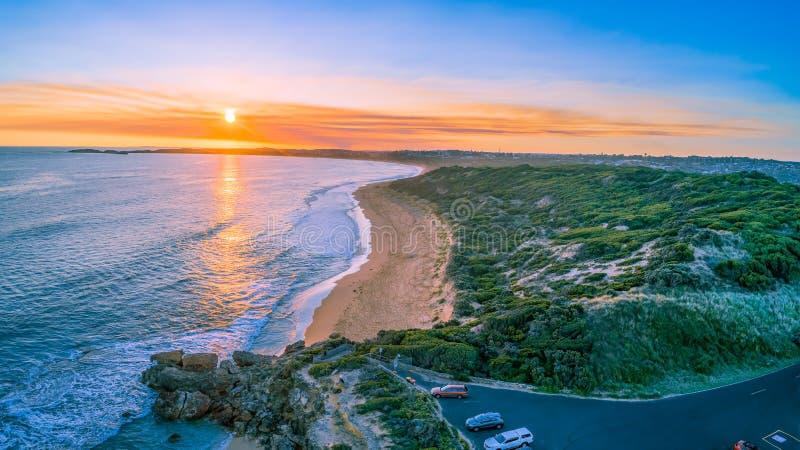 Punkt Ritchie-Ausblick bei Sonnenuntergang lizenzfreie stockfotos