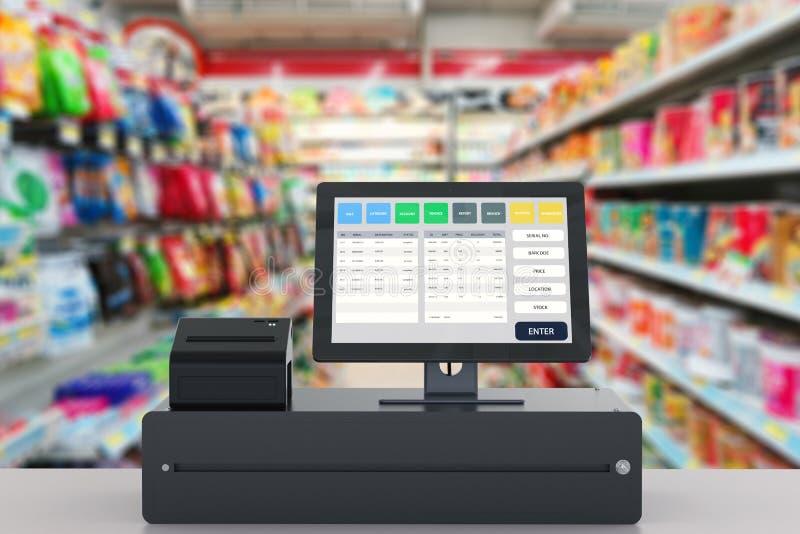 Punkt sprzedaż system dla sklepu zarządzania zdjęcie royalty free