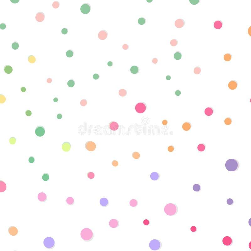 Punkt und Stellen zerstreuen Feierkonfetti-Musterzusammenfassung zurück stock abbildung