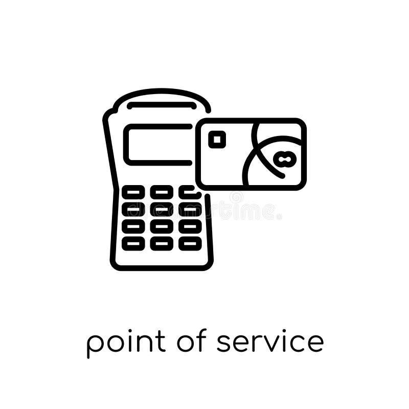 Punkt usługowa ikona Modny nowożytny płaski liniowy wektorowy punkt royalty ilustracja