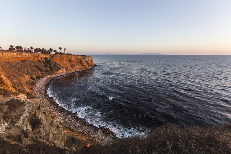 Punkt Vincente Southern California Coast arkivbild
