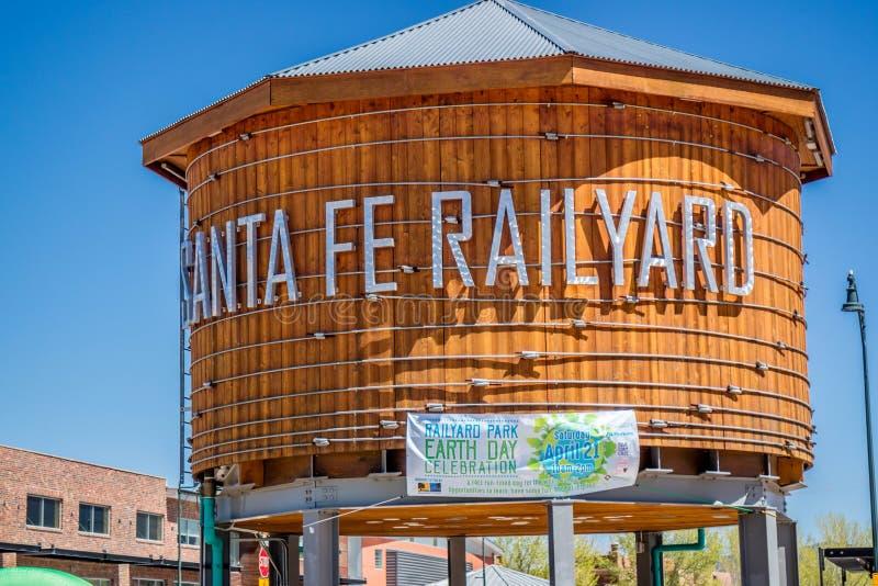 Punkt wejścia odmianowy miejsce w Santa Fe, Nowym - Mexico obraz stock
