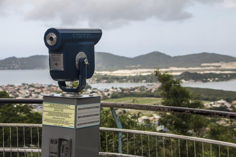 Punkt widzenia Conceição jezioro Brazylia - Florianópolis/SC - obraz stock