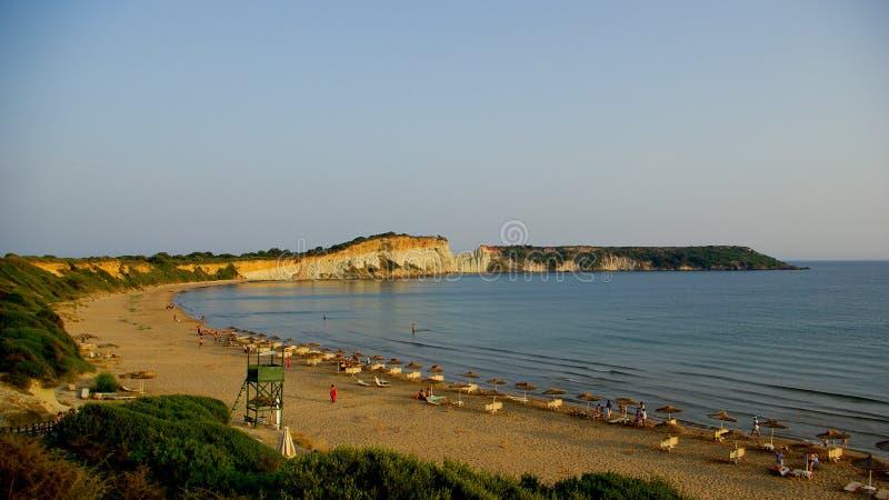 Punkt widzenia gerakas wyrzucać na brzeg w wyspie Zakynthos zdjęcie stock