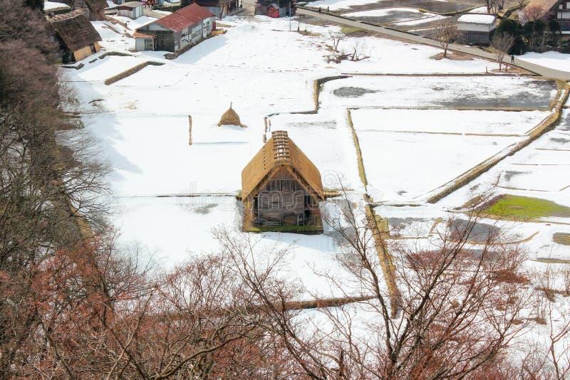 Punkt widzenia historyczna wioska Iść i Gokayama, Gassho- obraz stock