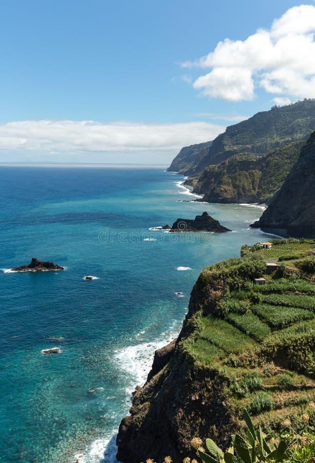 Punkt widzenia nad północnym wybrzeżem madera, zdjęcia royalty free