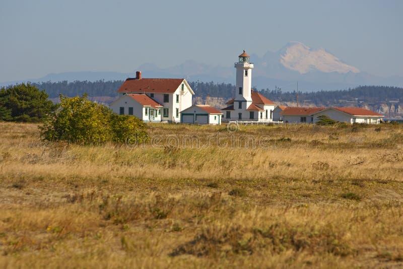 Punkt-Wilson-Leuchtturm am Fort Worden lizenzfreie stockfotografie
