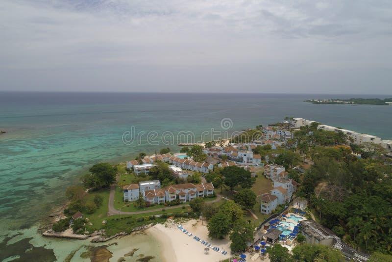 Punkt wioski kurort Negril Jamajka zdjęcia royalty free