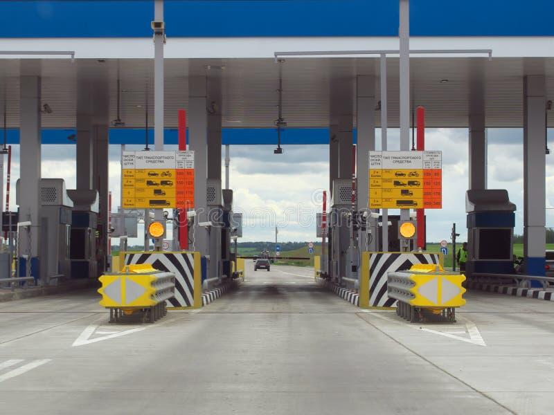 Punkt zapłata dla autostrady płatnej obrazy stock