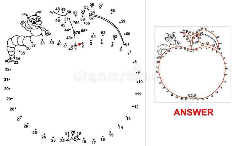 Punkt-zu-Punkt - Apple vektor abbildung