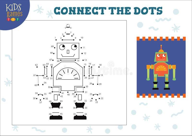 Punkt, zum der Kinderspiel-Vektorillustration zu punktieren Vorschulkinder, die T?tigkeit zeichnen lizenzfreie abbildung
