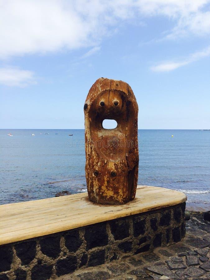 Punkt zwrotny El Medano, drewniane sztuki i rzemiosła, obrazy stock