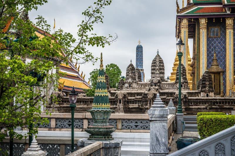 Punkt zwrotny wiele historii świątynia w Royal Palace, Bangkok Tajlandia fotografia royalty free
