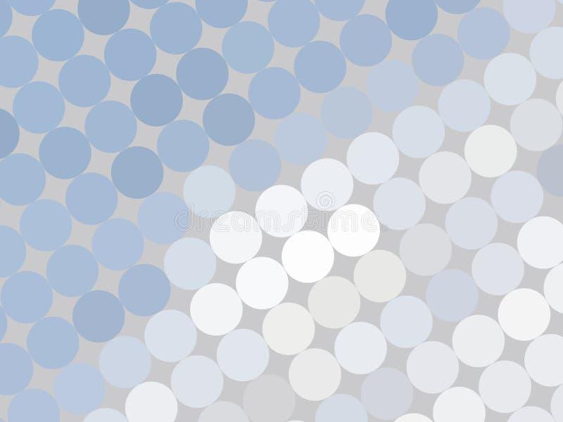 Punkte auf Grau stock abbildung