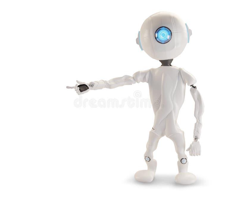 Punkte eines Roboters zu etwas 3D-Illustration vektor abbildung