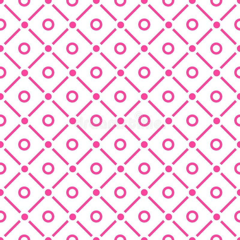 Punkte und Kontrollenahtloses Muster vektor abbildung