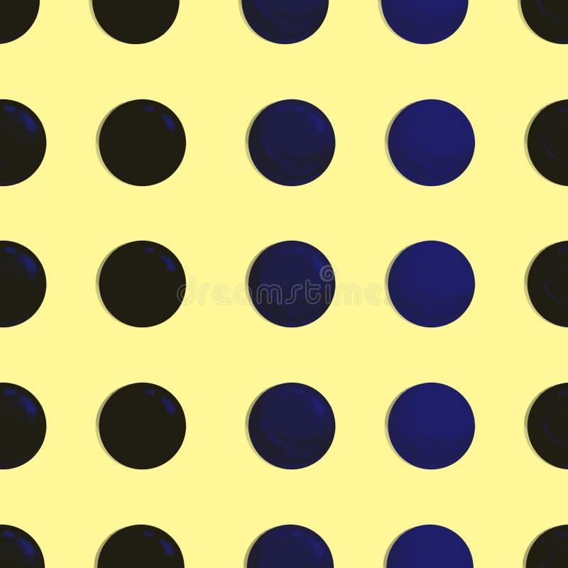 Punktiert, Knall Art Background, Knall Art Pattern Symbolischer Hintergrund der Kunst von sechziger Jahren Runder Hintergrund der lizenzfreie abbildung