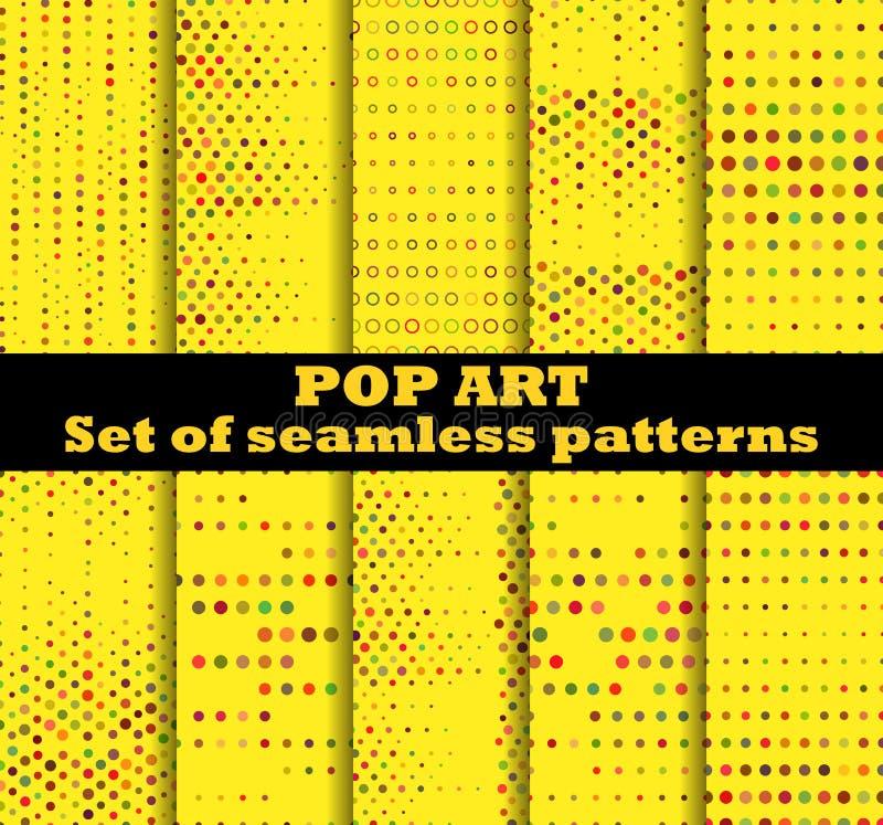 Punktiert, nahtloser Musterhintergrund der Pop-Art Pop-Art punktiertes retr lizenzfreie abbildung
