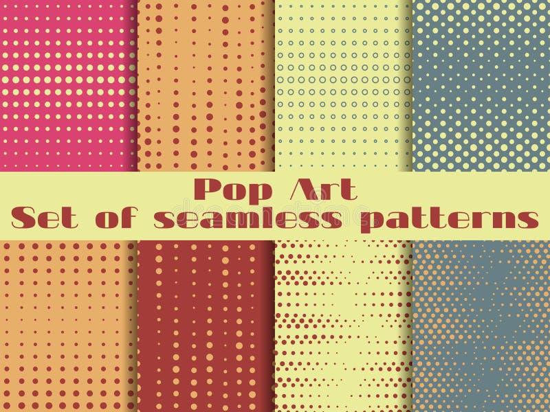 Punktiert, nahtloses Muster der Pop-Art Hintergrund in der Pop-Arten-Art vektor abbildung
