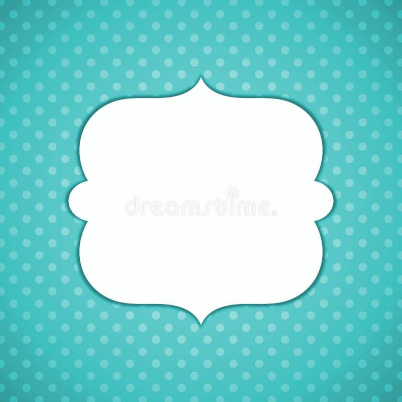 Punktierte Grußkarte des Vatertags Blau vektor abbildung
