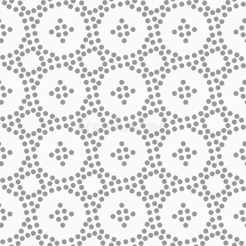 Punktierte Kreise und kleine Kreuze stock abbildung