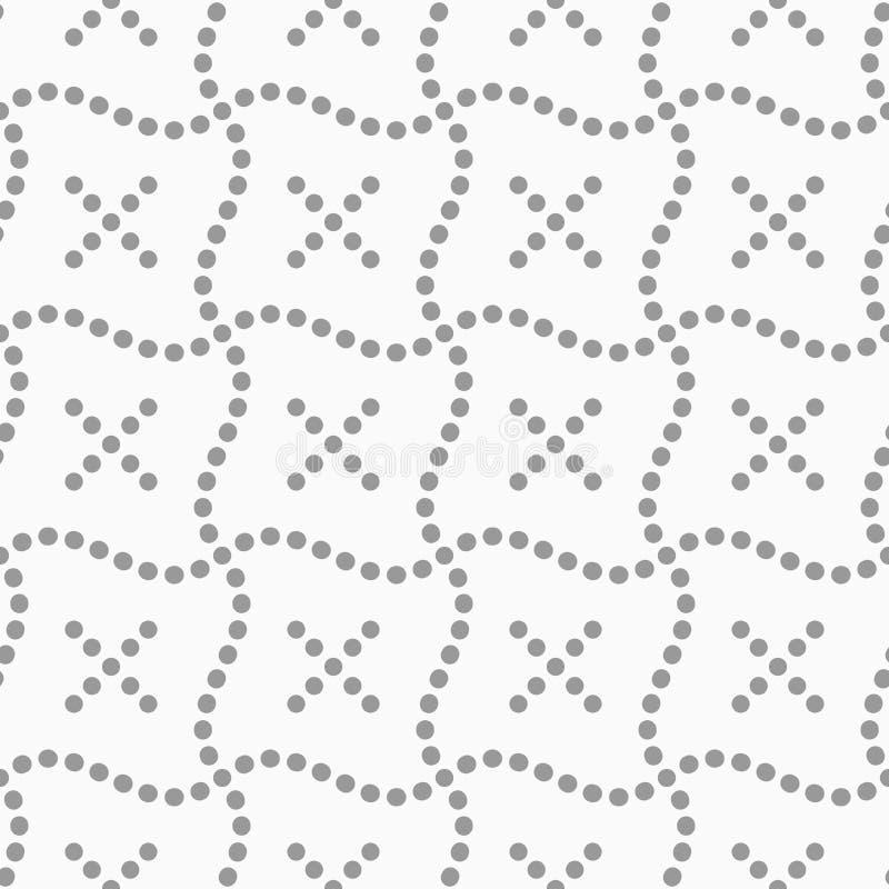 Punktierte Kreuze und gewellte Quadrate lizenzfreie abbildung