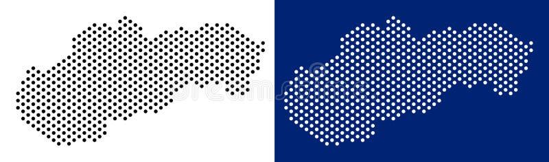 Punktierte Slowakei-Karte lizenzfreie abbildung