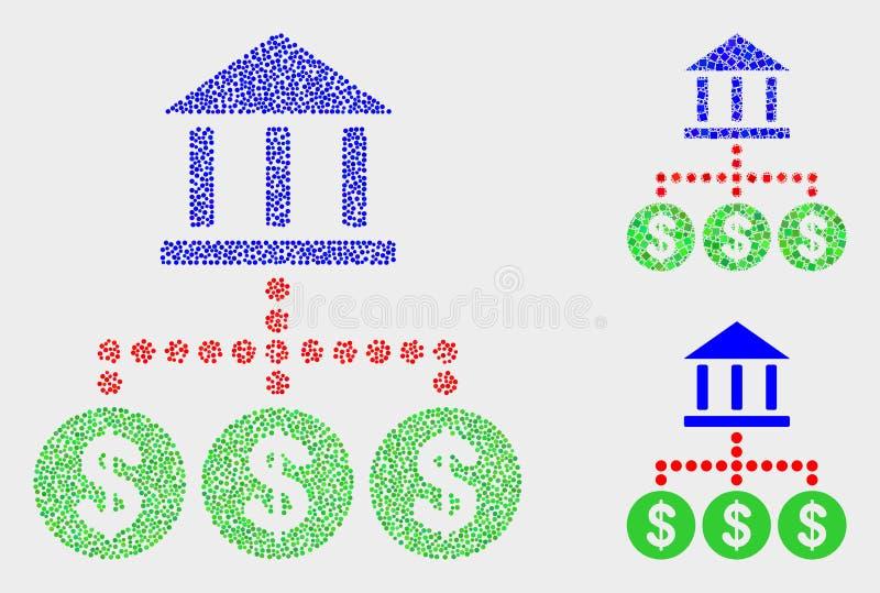Punktierte Vektor-Bank-Hierarchie-Ikonen lizenzfreie abbildung