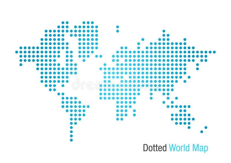 Punktierte Weltkarte vektor abbildung